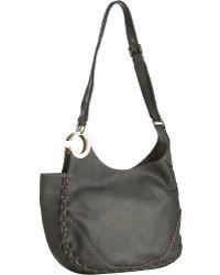 Gucci Grey Leather Charlotte Medium Shoulder Bag - Lyst