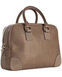 Celine Brown Leather Medium Boston Bag - Lyst