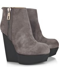 Acne Studios - Hybria Suede Wedge Boots - Lyst