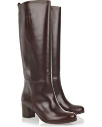 A.P.C. Leather Knee-high Boots - Lyst