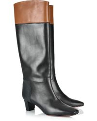 Christian Louboutin Cavaliere 45 Knee-high Leather Boots - Lyst