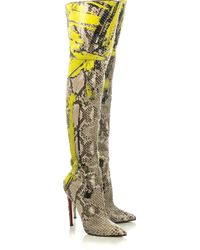 christian louboutin python pigalle boots