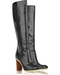 Jil Sander Leather Knee-high Boots - Lyst