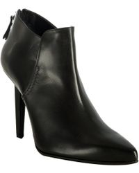 Calvin Klein Black Calfskin Jordane Ankle Boots - Lyst
