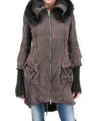 Sonia Villa Murmaski Fur Parka Leather Jacket - Lyst