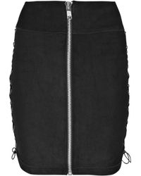 Bess Stretch-leather Pencil Skirt - Lyst