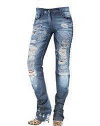 Dolce & Gabbana Destroyed Jewel Kate Jeans blue - Lyst