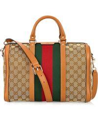 Gucci Vintage Web Medium Canvas Bag - Lyst