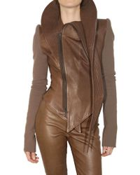 Haider Ackermann Wool Sleeves Leather Jacket - Lyst