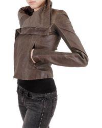 Rick Owens Washed Biker Leather Jacket - Lyst