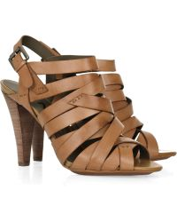 DKNY Janelle Multi-strap Leather Sandals - Lyst