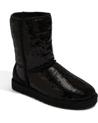 Ugg 'Classic Short With Sparkles' Boot - Lyst