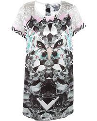 Beyond The Valley - Klaus Digital Print Dress - Lyst