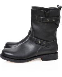 Rag & Bone Double-Strap Moto Boots - Lyst