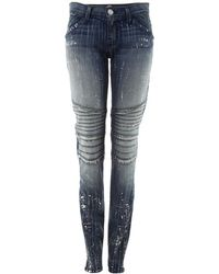 Rock & Republic - Distressed Paint Splatter Skinny Jeans - Lyst
