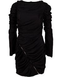 Lublu Drape Mini Dress - Lyst