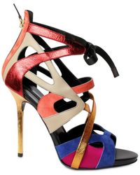 Diego Dolcini 110mm Multi Strap Cage Laced Sandals - Lyst