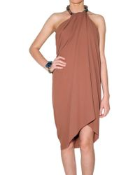 Lanvin Washed Crepe Dress - Lyst