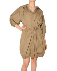Lanvin Washed Light Cotton Trench Coat - Lyst