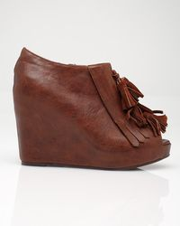 Jeffrey Campbell Tasseled Loafer Wedge - Lyst