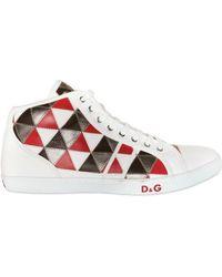D&G Patchwork Calf High Top Sneakers - Lyst
