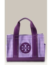 Tory Burch Mini Tory Printed Canvas Tote - Lyst