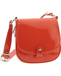 Ted Baker Flap Front Patent Crossbody Bag - Lyst