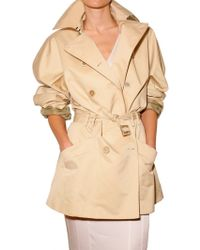 John Galliano Short Taffeta Trench Coat - Lyst