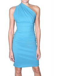 Preen By Thornton Bregazzi Stretch Envers Satin One Shoulder Dress - Lyst