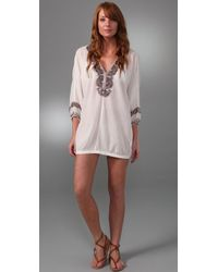 Joie - Bahamas Embroidered Coverup - Lyst