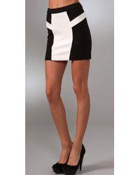 L.A.M.B. - Colorblock Miniskirt - Lyst