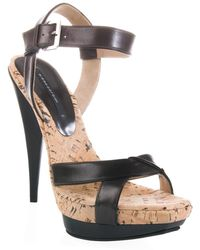 Diego Dolcini - Cork and Leather Sandal - Lyst