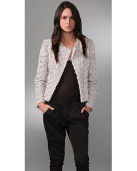 Wayne - Faux Fur Asymmetrical Jacket - Lyst