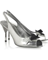 Marc By Marc Jacobs - Metallic-leather Star Court Shoes - Lyst