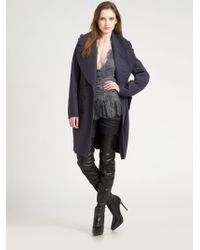 Burberry Prorsum Wool Melange Double Breasted Trenchcoat - Lyst