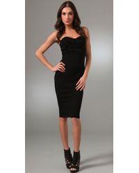 Kimberly Ovitz - Hendel Strapless Suede Bustier Dress - Lyst