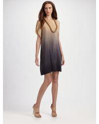 Behnaz Sarafpour - Ombré Silk Asymmetric Dress - Lyst