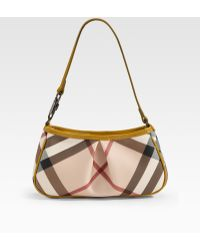 Burberry Small Check Mini Bag - Lyst