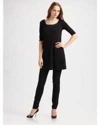 Eileen Fisher Scoopneck Tunic - Lyst