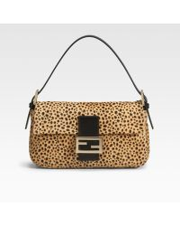 Fendi Spotted Calf Hair Baguette Mini Bag - Lyst