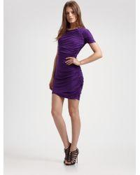 Laila Azhar - Asymmetrical Ruched Dress - Lyst