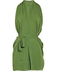 Max Azria Silk-georgette Playsuit - Lyst