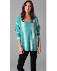 Torn By Ronny Kobo Kelly Tie Dye Stripe Sweater - Lyst