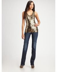 MICHAEL Michael Kors Sequined Camouflage Tank Top - Lyst