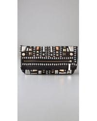 By Malene Birger - Morcheba Embellished Leather Clutch - Lyst