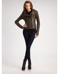 Mackage Asymmetric Leather Jacket - Lyst