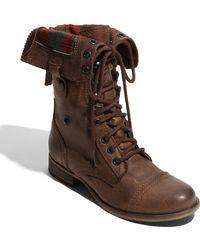 Steve Madden Flannel Boot - Lyst