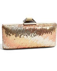 Sondra Roberts Sequin Box Clutch - Lyst