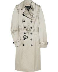 Burberry Prorsum Cotton-sateen Trench Coat - Lyst