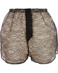 House of Holland - Lace Shorts - Lyst